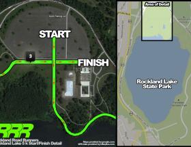 Rockland Lake Start / Finish Detail